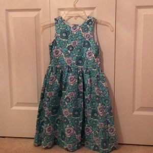Blue miniboden dress